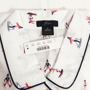 J CREW women Skiers Vintage pajama top.